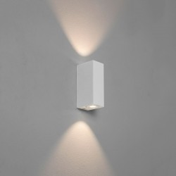 Astro Bloc White Bathroom LED Wall Light