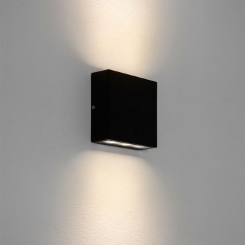 Astro Elis Twin Black Outdoor Led Wall Light At Uk Electrical Supplies