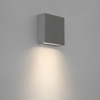 Astro Elis Single Painted Silver Outdoor LED Wall Light