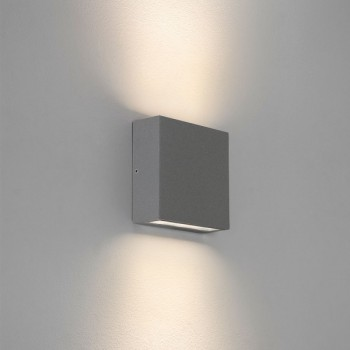 Astro Elis Twin Painted Silver Outdoor LED Wall Light