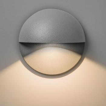 Astro Tivoli Painted Silver Outdoor LED Wall Light