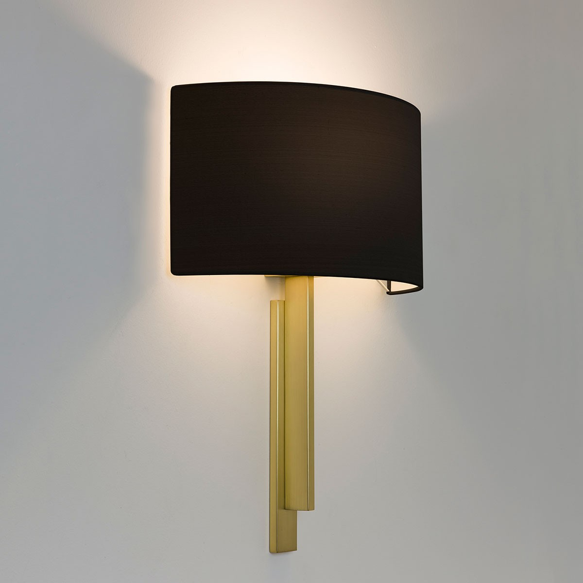 Matt Brass Wall Lights : Astro Tate Matt Brass Wall Light at UK Electrical Supplies.