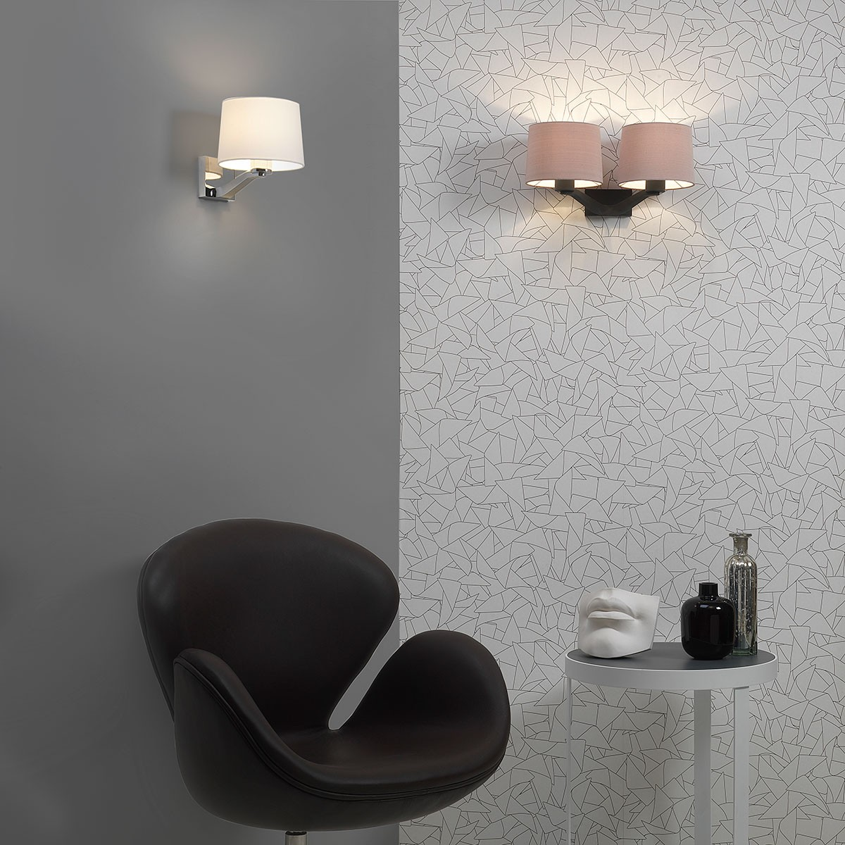 Astro Montclair Twin Bronze Wall Light at UK Electrical Supplies.