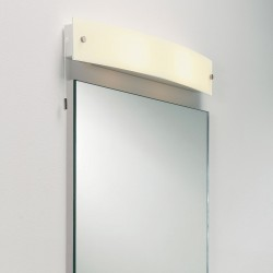 Astro Curve Frosted Bathroom Wall Light