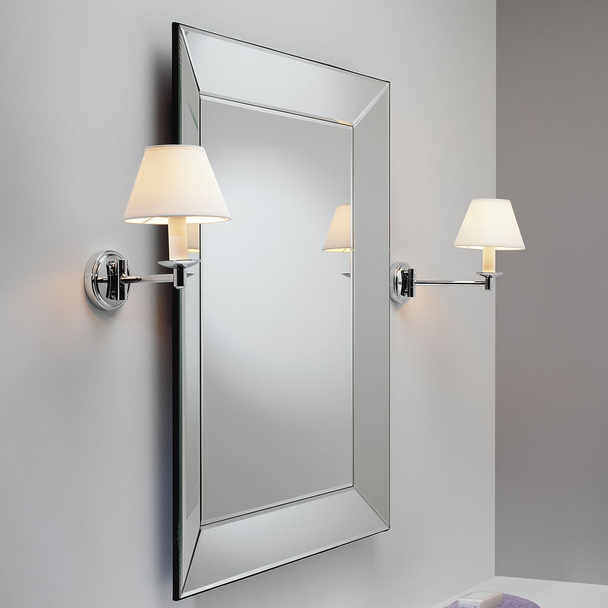 astro grosvenor polished chrome bathroom wall light at uk