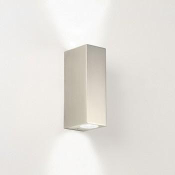 Astro Bloc Matt Nickel Bathroom LED Wall Light