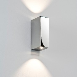 Astro Bloc Polished Chrome Bathroom LED Wall Light