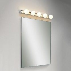 Astro Cabaret 5 Polished Chrome Bathroom Wall Light