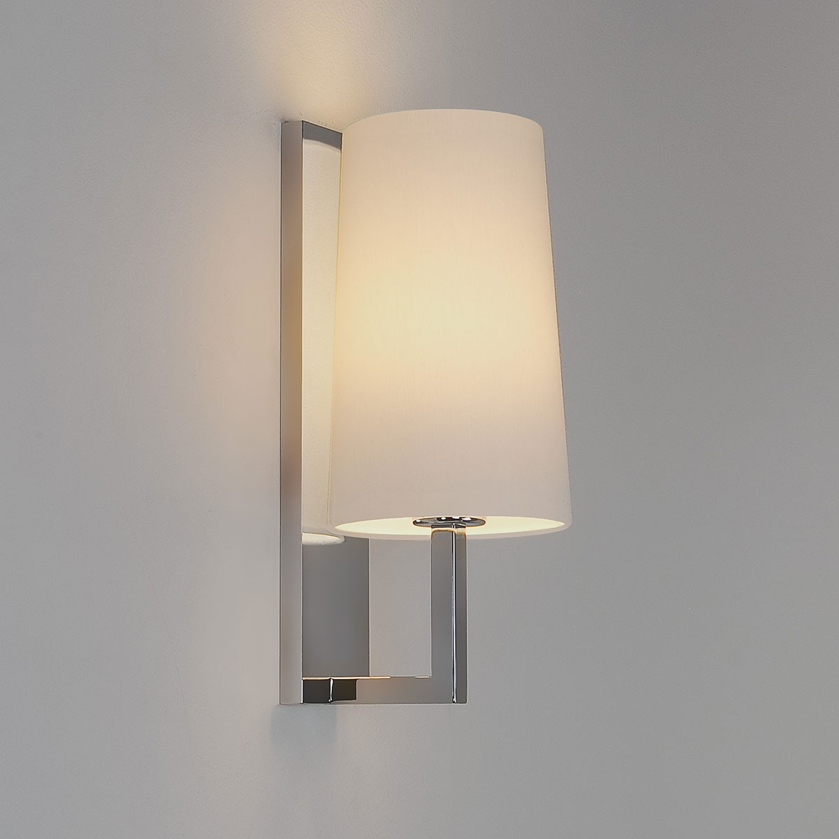 Astro riva 350 polished chrome bathroom wall light at uk for Astro lighting
