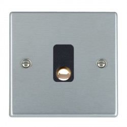 Hamilton Hartland Satin Chrome 20A Cable Outlet with Black Insert