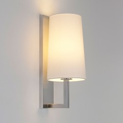 Astro Riva 350 Matt Nickel Bathroom Wall Light