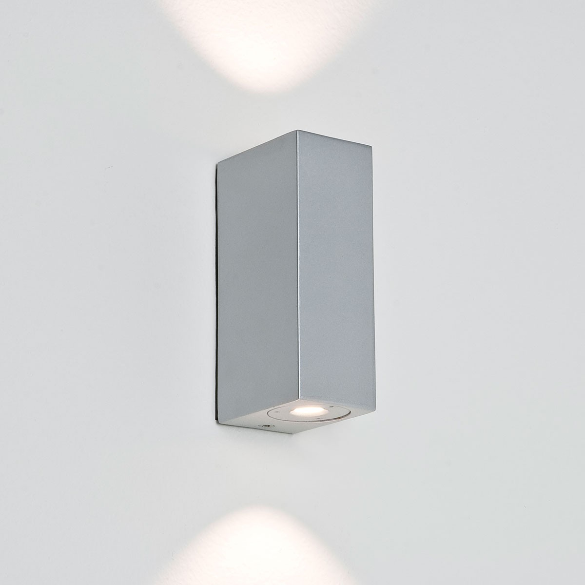 Silver Crystal Wall Lights : Astro Bloc LED Painted Silver Bathroom Wall Light at UK Electrical Supplies.