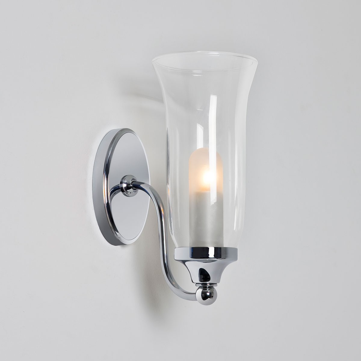 astro biarritz polished chrome bathroom wall light at uk