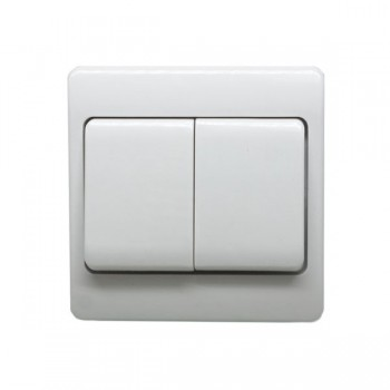 Click Mode 10A 2 Gang 2 Way Wide Rocker Switch