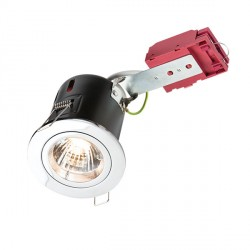 Knightsbridge IC Rated 50W Fixed GU10 Chrome Downlight