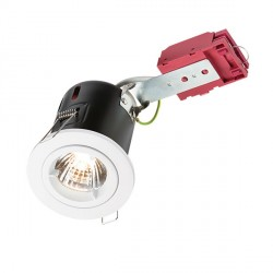 Knightsbridge IC Rated 50W Fixed GU10 White Downlight