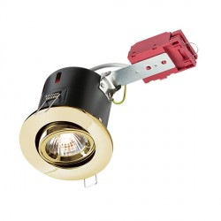 Knightsbridge IC Rated 50W Tilt GU10 Brass Downlight