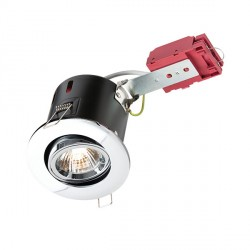 Knightsbridge IC Rated 50W Tilt GU10 Chrome Downlight