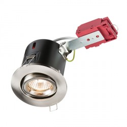 Knightsbridge IC Rated 50W Tilt GU10 Brushed Chrome Downlight