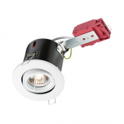 Knightsbridge IC Rated 50W Tilt GU10 White Downlight