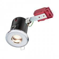Knightsbridge IC Rated IP65 35W Fixed GU10 Chrome Downlight