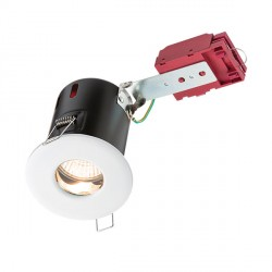Knightsbridge IC Rated IP65 35W Fixed GU10 White Downlight