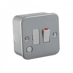 Knightsbridge Metal Clad 13A Switched Fused Spur Unit with Flex Outlet