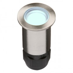 Knightsbridge 0.5W Blue LED Small Stainless Steel Ground Light