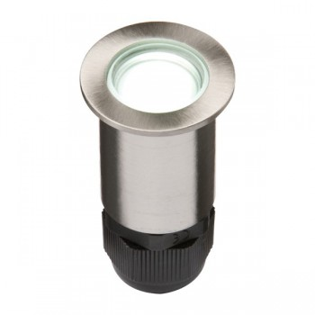 Knightsbridge 0.5W White LED Small Stainless Steel Ground Light