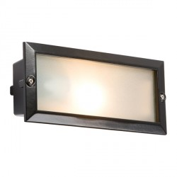 Knightsbridge 40W Black Aluminium Brick Light