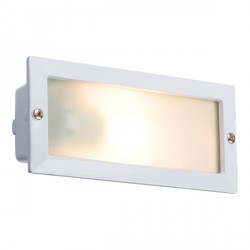 Knightsbridge 40W White Aluminium Brick Light