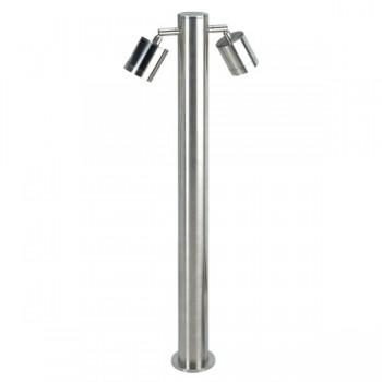Knightsbridge 2x35W GU10 Stainless Steel Large Adjustable Bollard Light