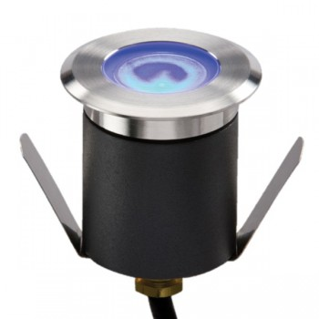 Knightsbridge 1W Blue LED Stainless Steel Walkover/Driveover Groundlight