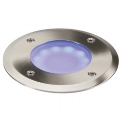 Knightsbridge 1.2W Blue LED Stainless Steel Walkover/Driveover Light