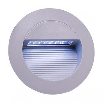 Knightsbridge 1.4W Round Grey LED Guide Light