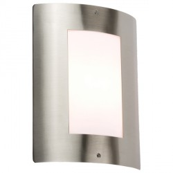 Knightsbridge 40W Window Stainless Steel Exterior Wall Light