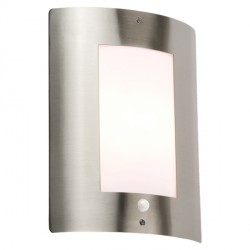 Knightsbridge 40W Window Stainless Steel Exterior Wall Light with PIR Sensor