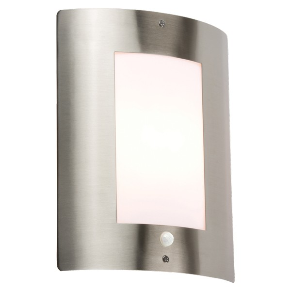 Knightsbridge 40w Window Stainless Steel Exterior Wall Light With Pir Sensor At Uk Electrical
