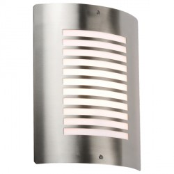 Knightsbridge 40W Slotted Stainless Steel Exterior Wall Light