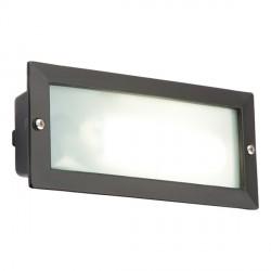 Knightsbridge 9W Black Aluminium Brick Light