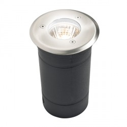 Knightsbridge 35W MR16 Stainless Steel Round Walkover/Driveover Light