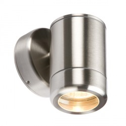 Knightsbridge 35W Heavy Gauge Stainless Steel Fixed Wall Light