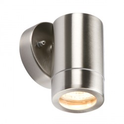 Knightsbridge 35W Light Gauge Stainless Steel Fixed Wall Light