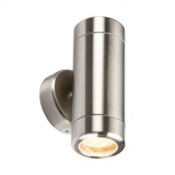 Knightsbridge 2x35W Heavy Gauge Stainless Steel Up/Down Wall Light