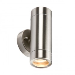 Knightsbridge 2x35W Light Gauge Stainless Steel Up/Down Wall Light