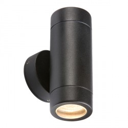 Knightsbridge 2x35W Black Up/Down Wall Light