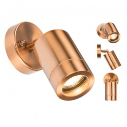 Knightsbridge 35W Copper Adjustable Wall Light