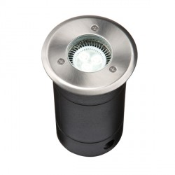 Knightsbridge 25W GU10 304 Stainless Steel Round Walkover/Driveover Groundlight