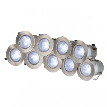Knightsbridge 0.2W White LED Stainless Steel Decking Light Kit