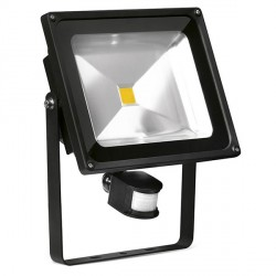 Aurora Lighting Helius PIR 50W Cool White Adjustable LED Floodlight